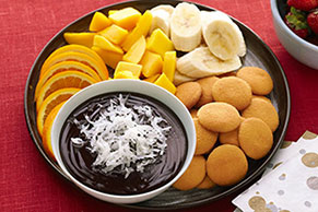 Warm Chocolate-Coconut Dip