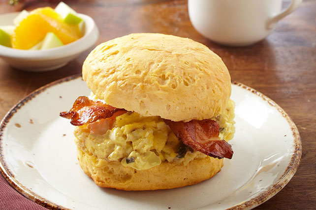 Bacon & Egg Biscuits