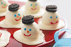 Melting Snowmen Cookie Balls Image 1