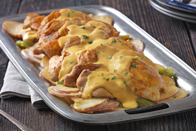 Slow-Cooker Cheesy Chicken & Potatoes