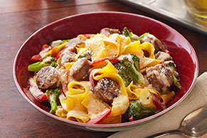 Chicken Sausage Pappardelle Pasta Recipe