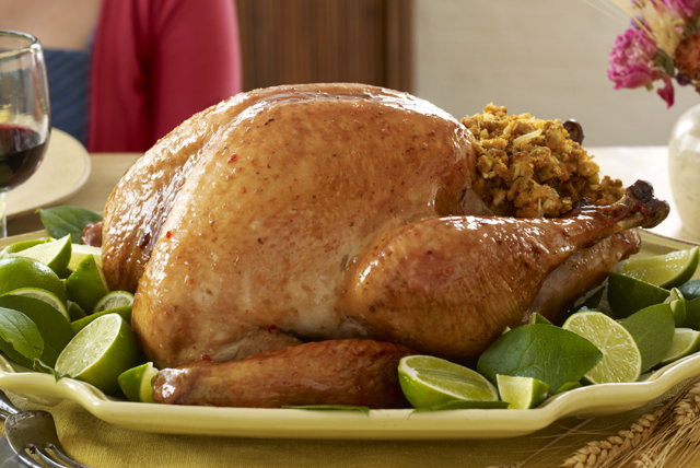 Honey-Lime Glazed Turkey with Stuffing Image 1