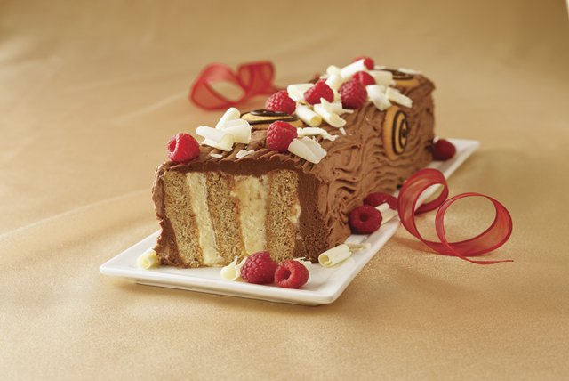 Festive Yule Log Cake Recipe Image 1