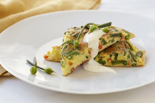 Omelette à l'ail chinois et au parmesan Image 1