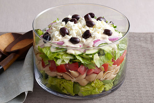 Layered Greek Salad for a Crowd Image 1