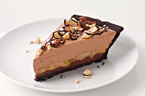 Chocolate-Hazelnut-Banana Pie