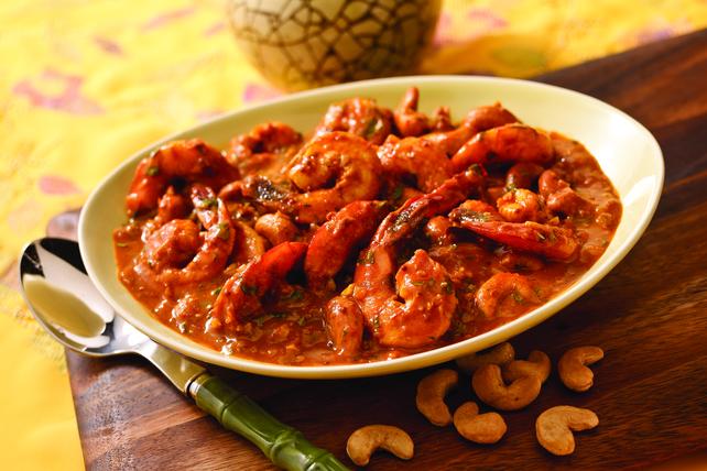 Cari de crevettes aux noix de cajou du Kerala Image 1