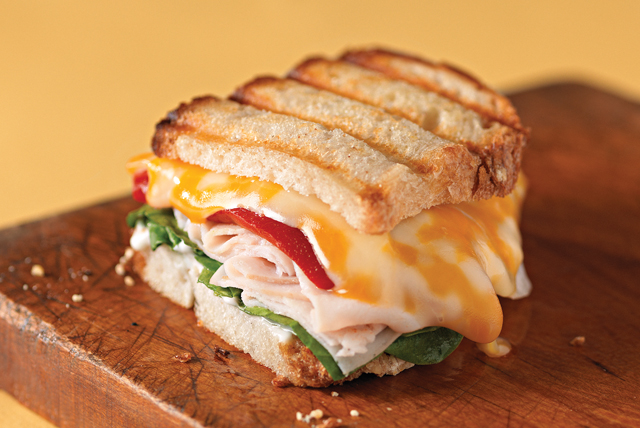 Panini with Turkey and Cheese Image 1