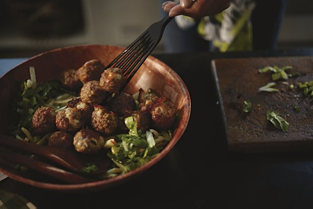 Savory Turkey Meatball Salad Image 1