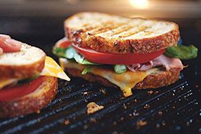 H.A.T. Sandwich (Ham, Asparagus & Tomato)