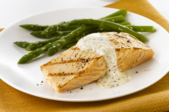 Salmon with Mustard-Cream Sauce Image 1