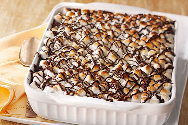 Marshmallow and Chocolate Pudding Cake