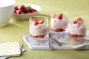 Fresh Strawberry-Rhubarb  Fool