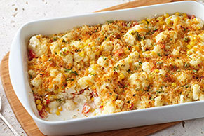 Creamy Garlic-Cauliflower Bake