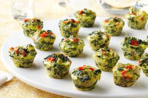 Mini Spinach-Artichoke Frittatas