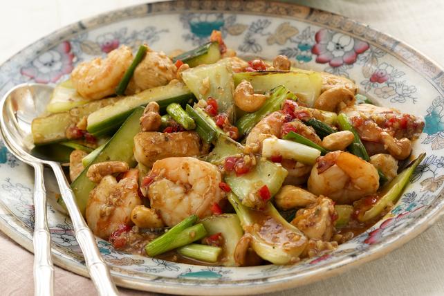 Sauté Hu Tong au poulet et aux crevettes Image 1