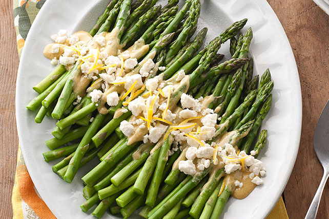 Asparagus Salad with Lemon & Feta Image 1