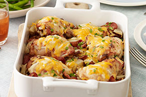 Bacon-Cheddar Chicken and Potatoes