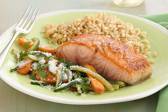 Balsamic-Honey Glazed Salmon