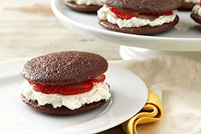 Chocolate-Strawberry Shortcake Whoopie Pies