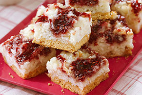 Raspberry-Kissed Coconut Bars