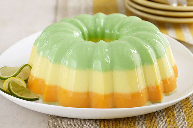 creamy triple citrus gelatin dessert kraft recipes. Black Bedroom Furniture Sets. Home Design Ideas