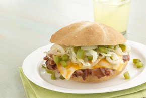 Cheesy BBQ Beef Sandwiches