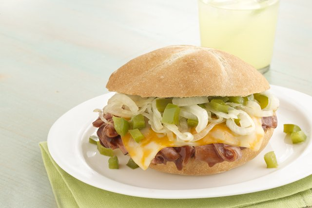 Cheesy BBQ Beef Sandwiches Image 1