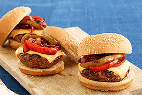 BBQ Grilled Steak Burgers