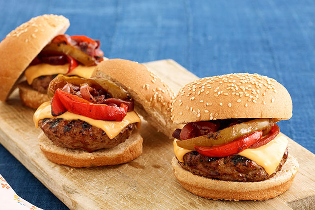 BBQ Grilled Steak Burgers Image 1