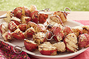 Easy Potato Skewers