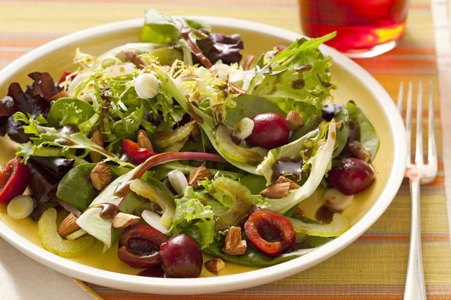 Mixed Salad Greens & Cherries Image 1