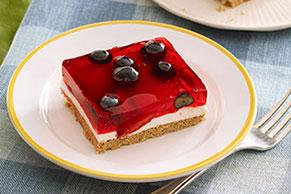 Glazed Berry Squares