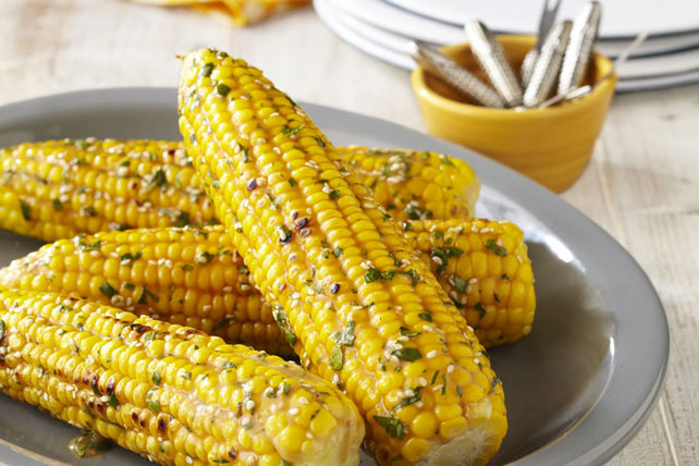 Corn On The Cob Recipes Asian-Twist Grilled Corn on the Cob Image 1