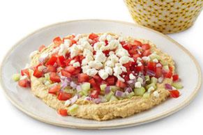 Pasta para untar de humus y de vegetales