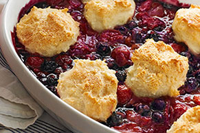 Triple-Berry Cobbler Recipe Image 1
