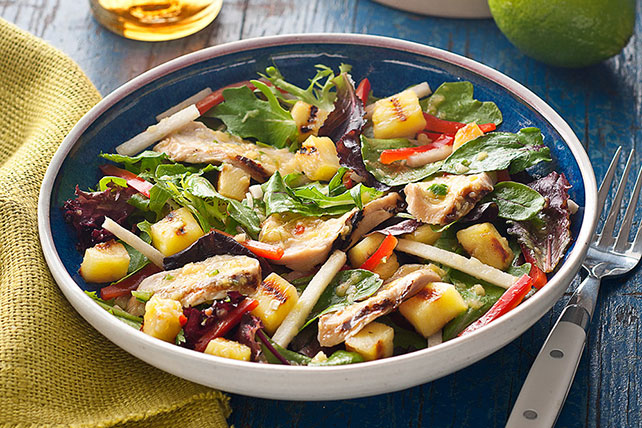 Grilled Chicken & Pineapple Salad with Pineapple-Serrano Dressing Image 1