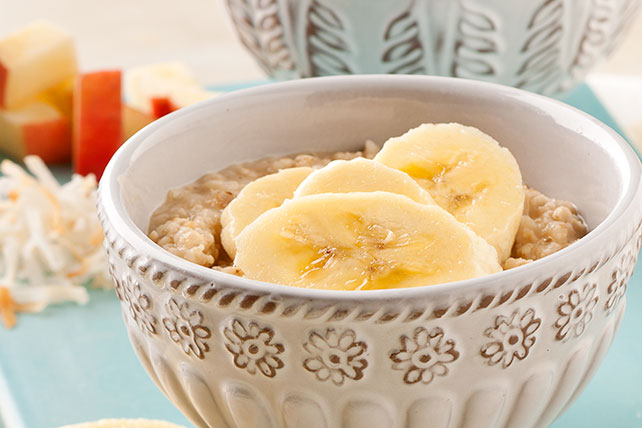 Avena con mantequilla de maní y plátano Image 1