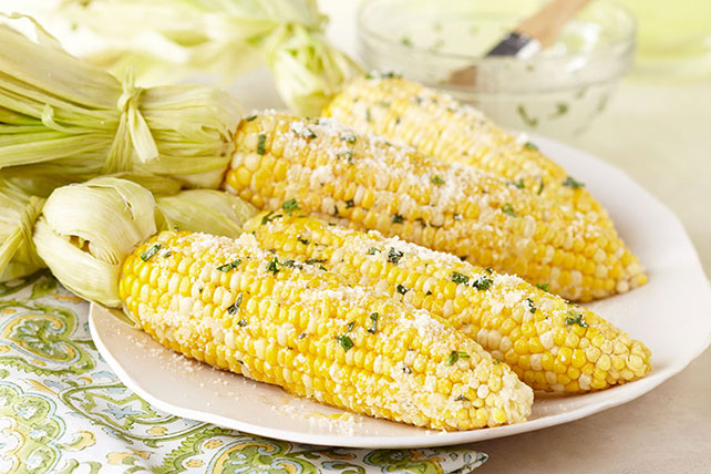 Fresh Corn with Lemon-Basil Parmesan Butter Image 1