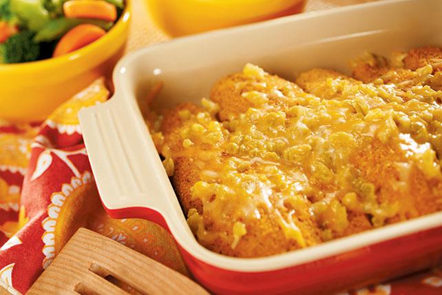 Pollo empanizado con queso fundido y chiles Image 1
