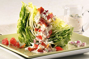 Creamy Blue Cheese &  Bacon Wedge Salad