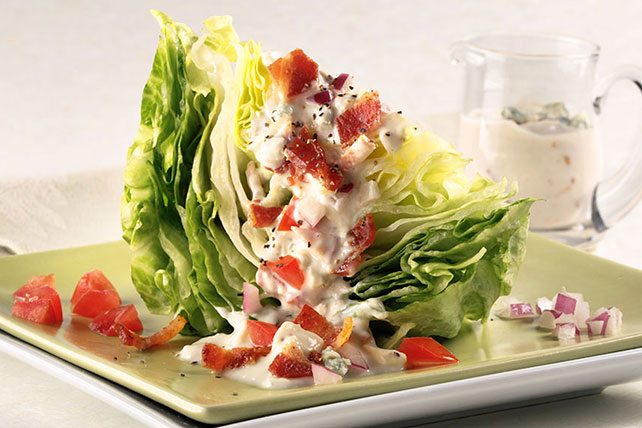 Wedge Salad with Blue Cheese and Bacon