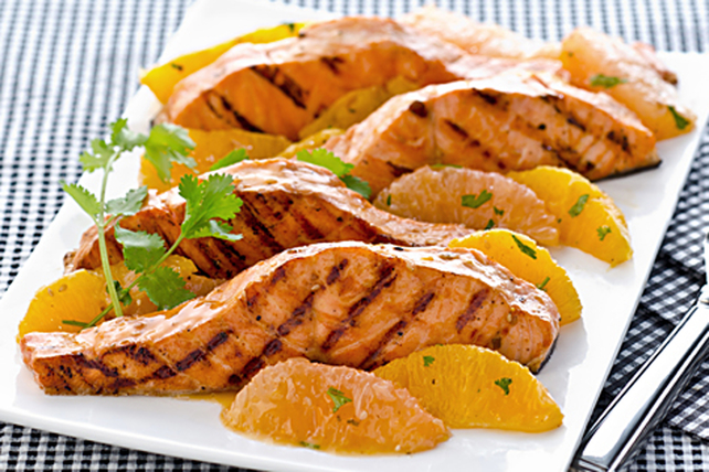 Grilled Mandarin Salmon with Citrus Salsa Image 1