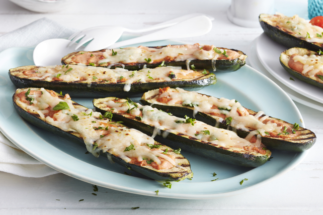 Grilled Stuffed Zucchini Boats Image 1