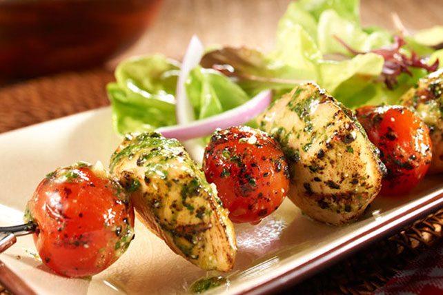 Pesto Chicken Skewers