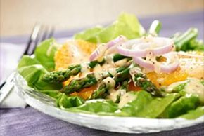Asparagus, Boston Lettuce and Orange Salad