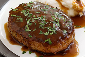 Salisbury Steak with Mashed Potatoes & Gravy