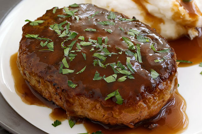 Salisbury Steak with Mashed Potatoes & Gravy Image 1