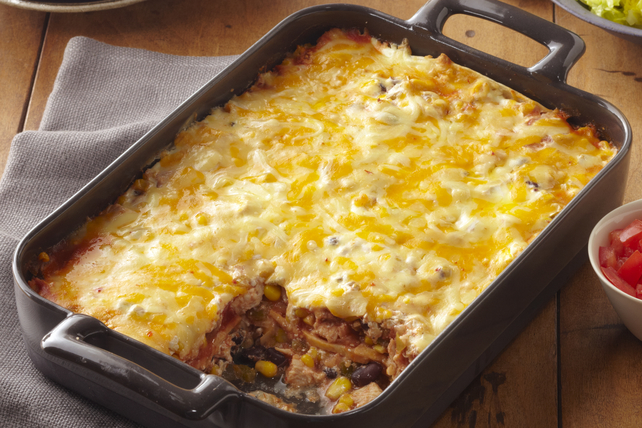 Roasted Turkey Enchilada Bake Image 1