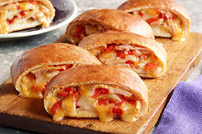 Cheesy Turkey Stromboli Recipe